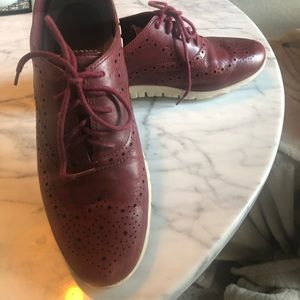 Cole Haan Zerogrand OS Red leather sneakers
